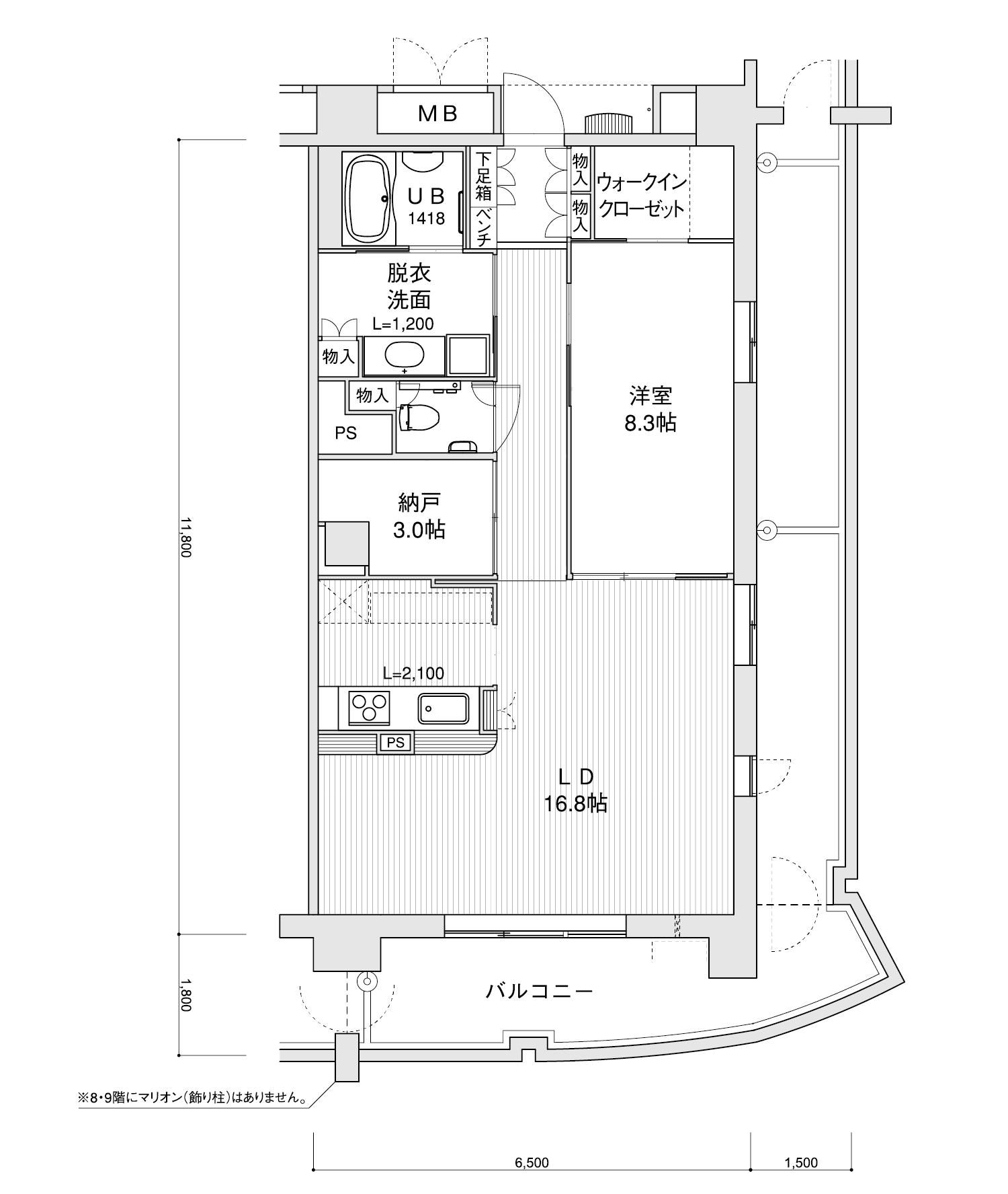1107-H31LDK+納戸専有面積 / 76.70m²