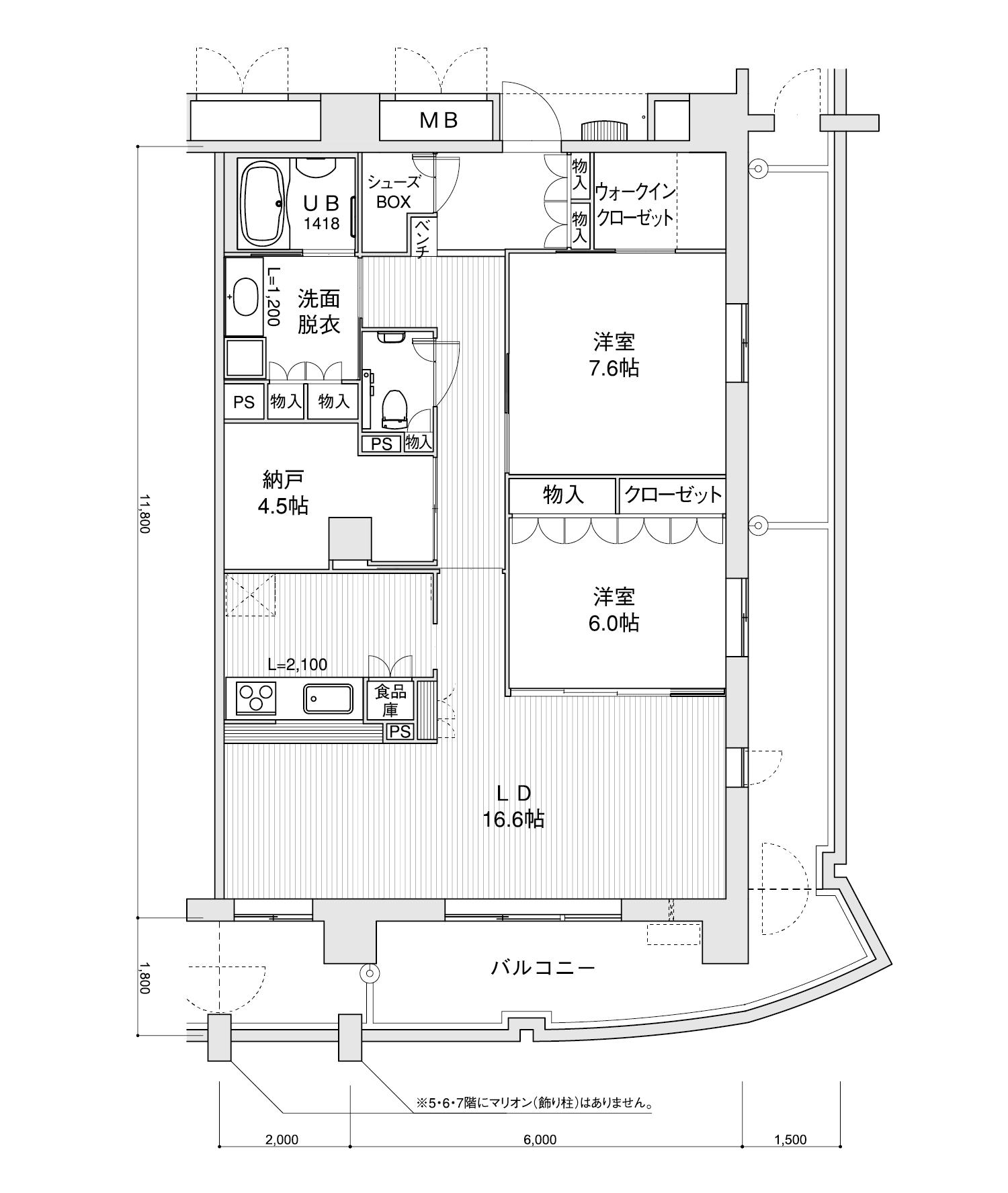2007-K22LDK+納戸専有面積 / 94.40m²