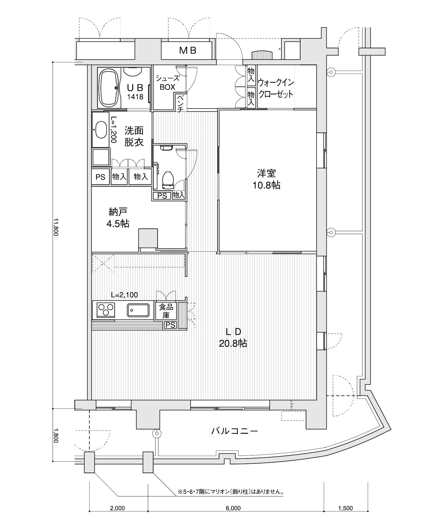 2107-K41LDK+納戸専有面積 / 94.40m²