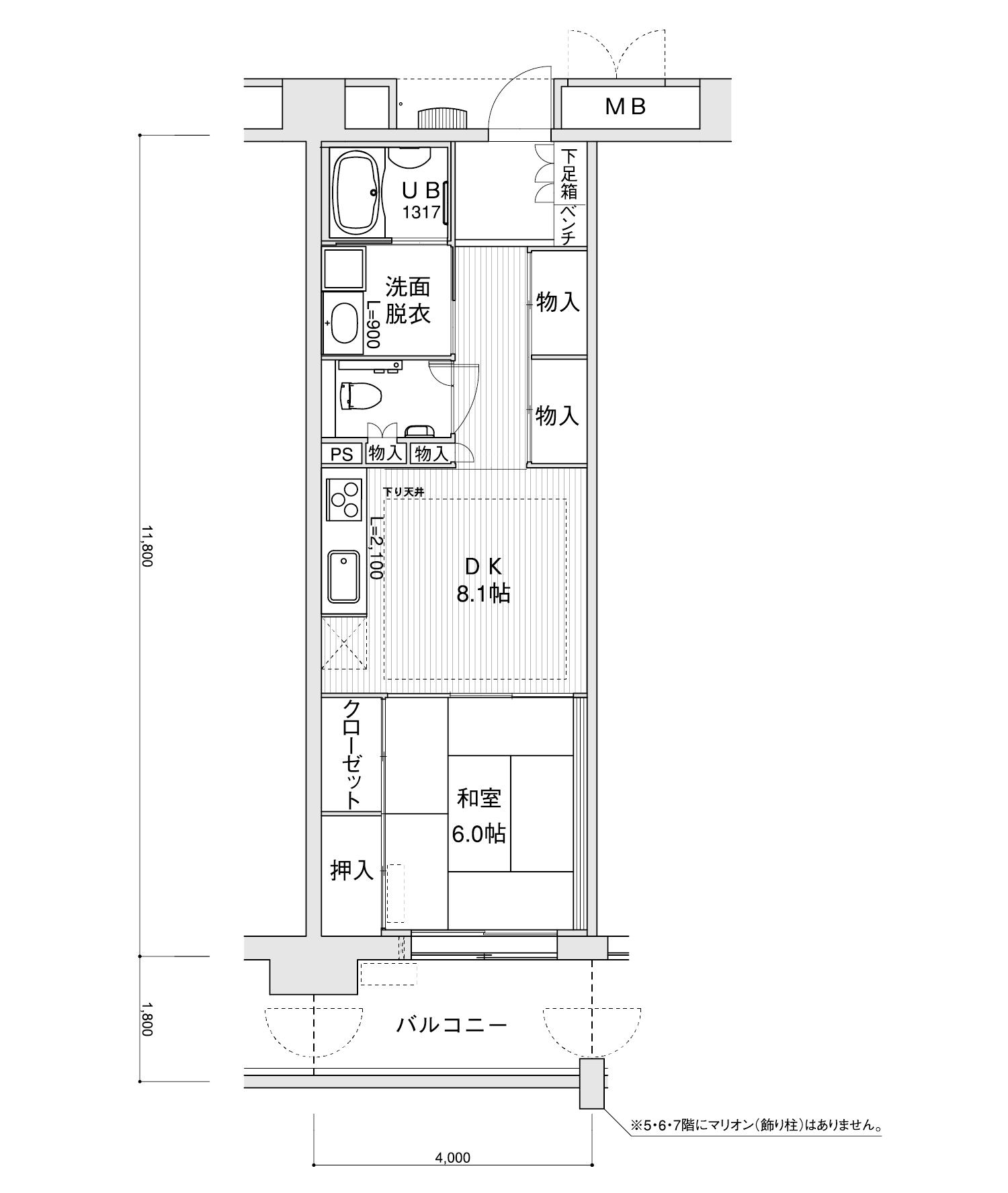 1506-A21DK専有面積 / 47.20m²