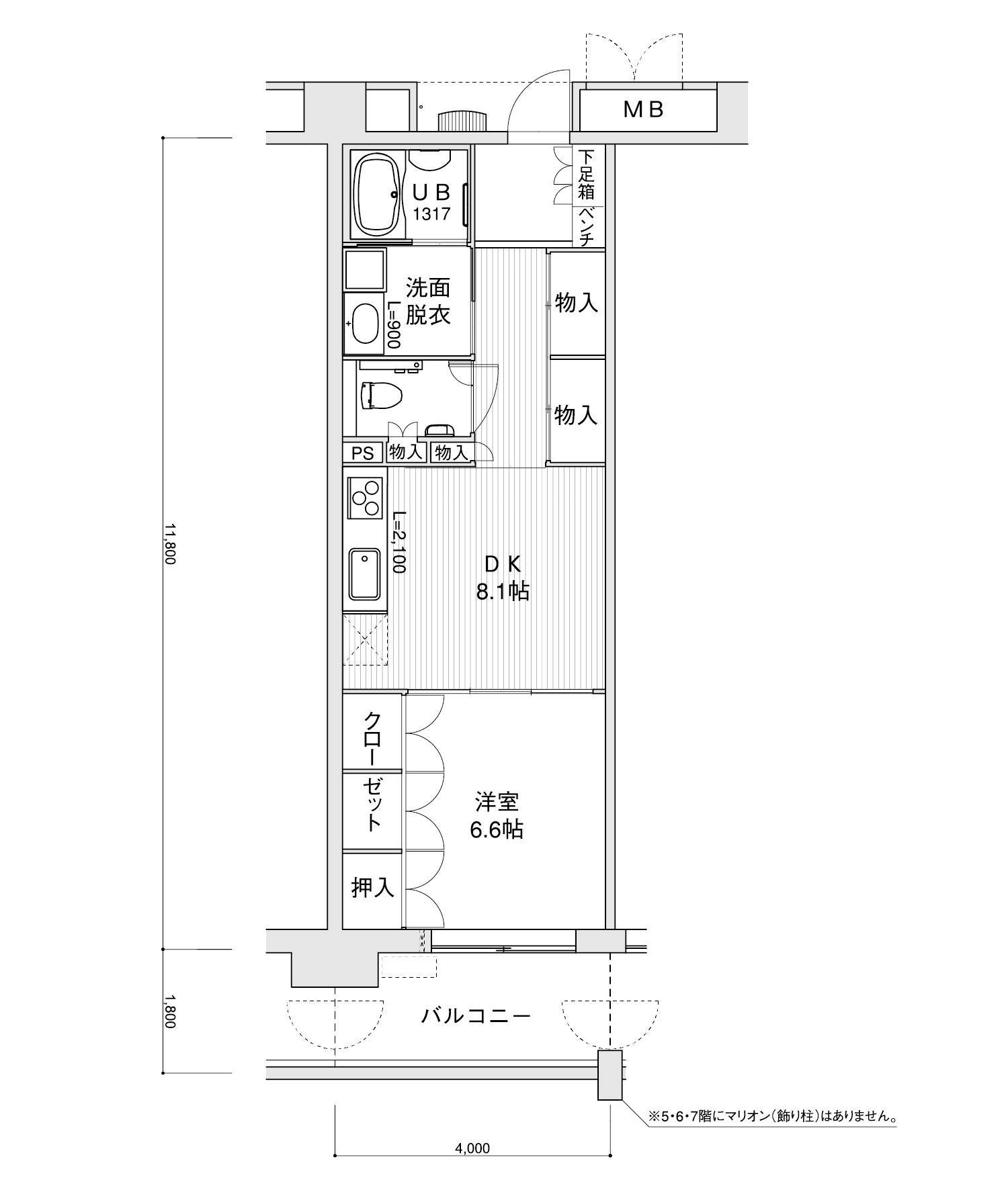 1606-A11DK専有面積 / 47.20m²